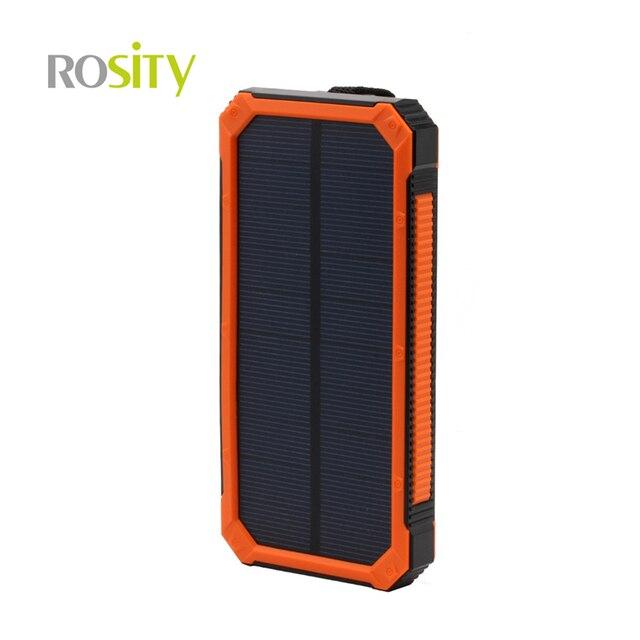 ROSITY новый 10000 мАч солнечной энергии банк солнечное зарядное устройство powerbank bateria наружный для всех мобильных телефона для pad бесплатная доставка