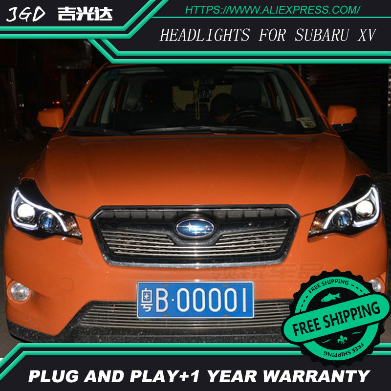 Car styling auto Part Style LED Head Lamp for Subaru XV 2011-2015 led headlights drl hid Bi-Xenon Lens low beam hireno headlamp for 2016 hyundai elantra headlight assembly led drl angel lens double beam hid xenon 2pcs
