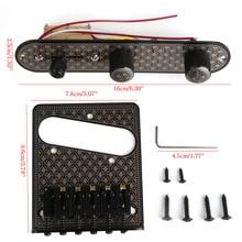 1 Set Guitar Bridge & 3 Way Switch Control Knob Plate Set Black Diamond Pattern Guitars Basses Parts Musical Instruments