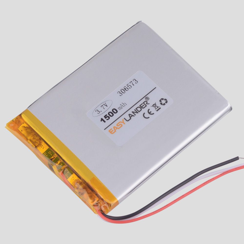 3 Line 306573 3.7V 1500mAh Lithium Polymer  For Vedio  E-Book Tablet PC E-book Digma E629 BOYUE C61 Battery Gmini T6lhd Lite