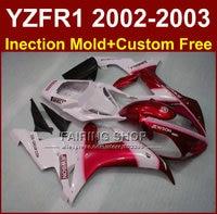 Jewson red body parts for YAMAHA YZF R1 2002 2003 fairings yzf r1 02 03 YZF1000 02 03 +custom free fairing kit