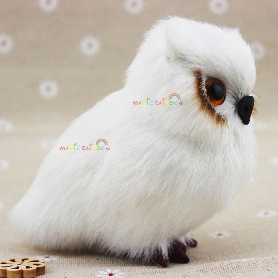 Blanco mini peludo búho Navidad ornamento adorno simulación altura ...