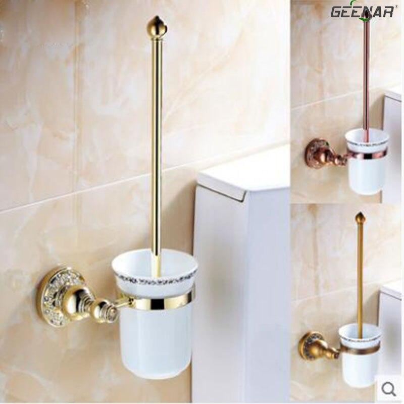Antique gold rose gold toilet brush set toilet brush porcelain bathroom bathroom hardware accessories antique rose