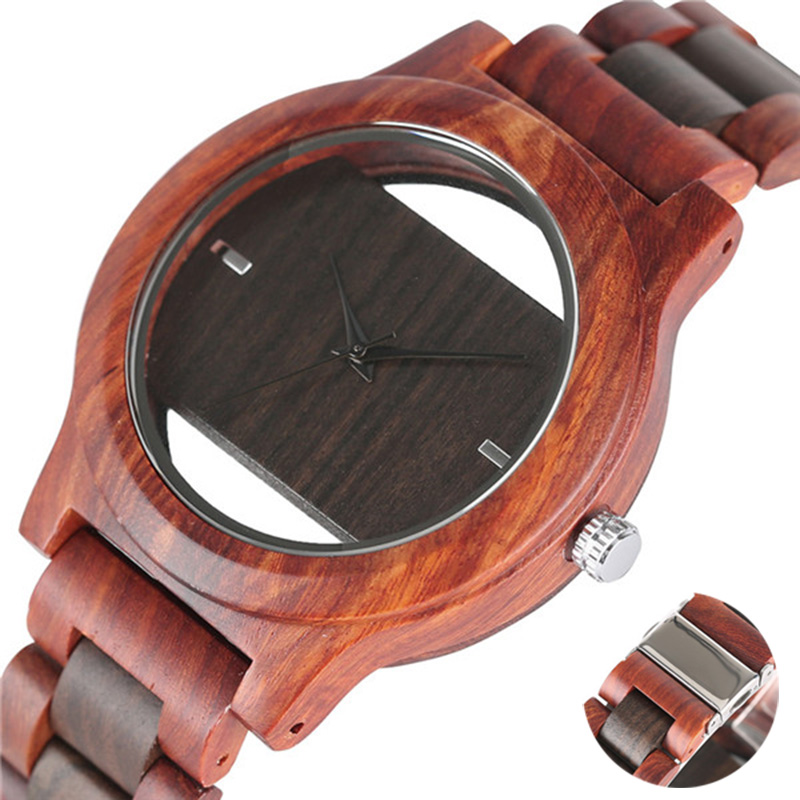 2017 Full Wood Wrists Watches Men Handmade Bamboo Bracelet Casual Bangle Women Quartz Watch Male Clock Relogio Masculino Mujer 2017 new arrival hand made full bamboo design quartz wristwatch bracelet clasp green beige dial simple casual male watch gift