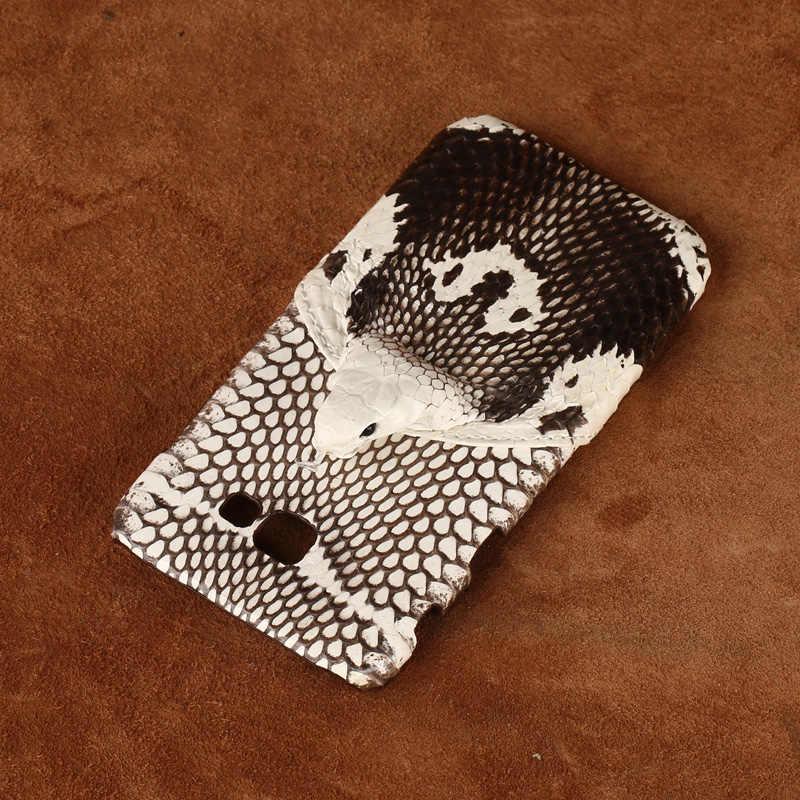 מותג אמיתי נחש עור טלפון מקרה עבור סמסונג a7 2017 טלפון בחזרה כיסוי מגן מקרה עור טלפון מקרה עבור סמסונג a8 2018