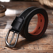 True leather belt leisure automatic buckle two-layer cowhide womens fashion alloy manufacturers wholesale