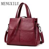 MENGXILU Fashion Leather Women Bags Handbags Women Famous Brands Luxury Designer Plaid Sholder Bag Ladies Casual