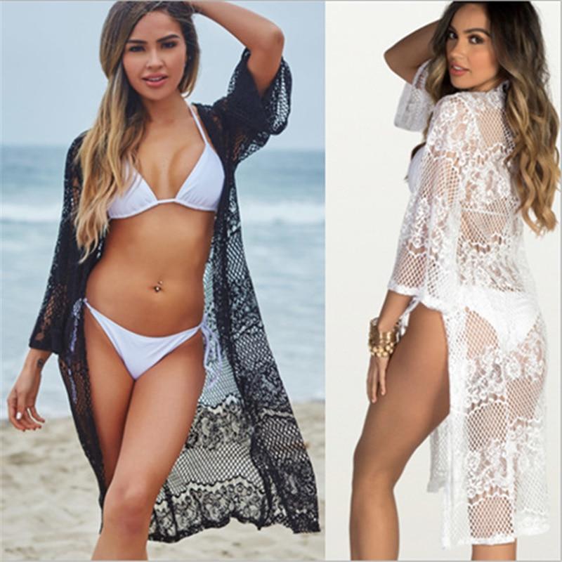 Lace Cover Up Swim Skirt Bikini 2018 Bathing Suit Cover Ups Beach Skirt Crochet Cover Up Beach Wrap Swimwear Dress Strand Tuniek