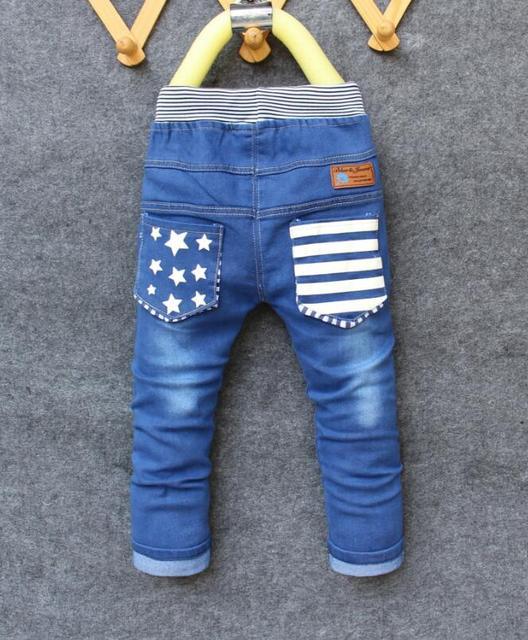 d45fd12715a93f Dżinsy dla dzieci 2019 wiosna dzieci modne spodnie dżinsowe Baby Boy  spodnie jesień stopy dzieci wzór