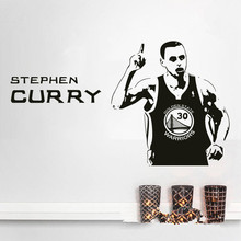 Free shipping diy wallpaper Basketball superstar Stephen Curry wall stickers Home Decoration home mural