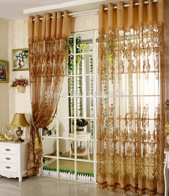 2015 European style fancy design tulle curtain with ... on Living Room:5J0Grrq-Soy= Curtains Design  id=79126