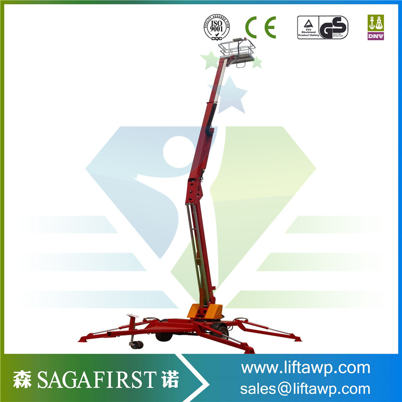 Pickup Cherry Picker Man Lift Articulating Arm Aerial Work Platform Bucket Vehicle Truck Mounted Boom Lift