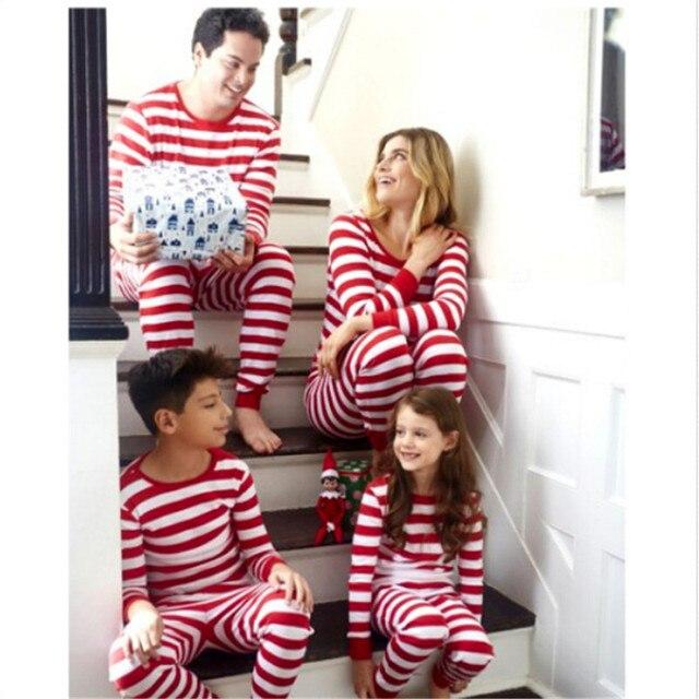 2018 2-14Y New Family Match Christmas Pajamas Set Xmas Hot Sale Mum Dad Kid  Sleepwear Nightwear Homewear Family Matching Pjs Set f92d073ec