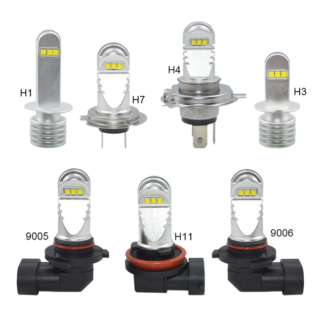 Led Auto Lights >> Led Car Headlight 30w H11 Led H1 H3 H4 H7 Hb4 9006 Hb3 9005 White