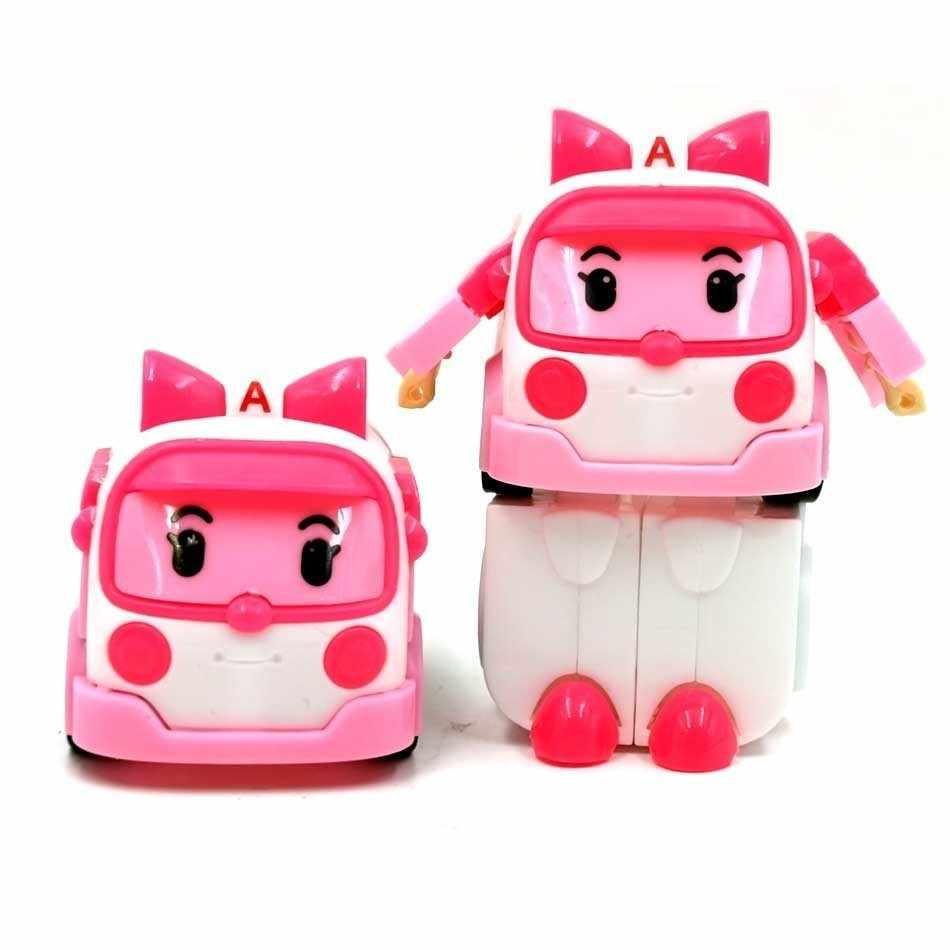 6 أنماط الكورية طفل لعب Robocar بولي التحول روبوت بولي العنبر روي سيارات لعب ألعاب شخصيات الحركة للأطفال أفضل الهدايا