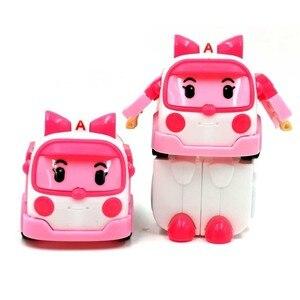 Image 3 - 6 Styles Korean Kid Toys Robocar Poli Transformation Robot Poli Amber Roy Car Toys Action Figure Toys For Children Best Gifts