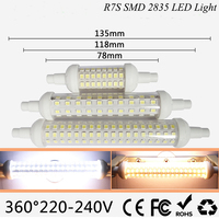 R7S Led 12W 118mm 360 Degree 10W 78mm Lampadas Led R7s Bulb 15W 135mm Replace Halogen
