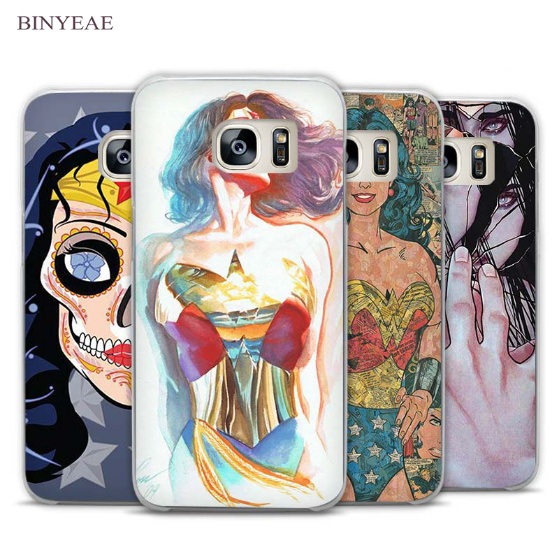 Binyeae Wonder Woman Hero Ясно Телефон чехол для Samsung Galaxy Note 2 3 4 5 7 S3 S4 S5 мини S6 S7 S8 Edge Plus