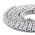 Новый 2015 Хип-Хоп Bling iced из 1 Строки Ожерелье заявление Ожерелья Черный Гальваническим Тяжелая и долго Золотая Цепочка для Мужчин