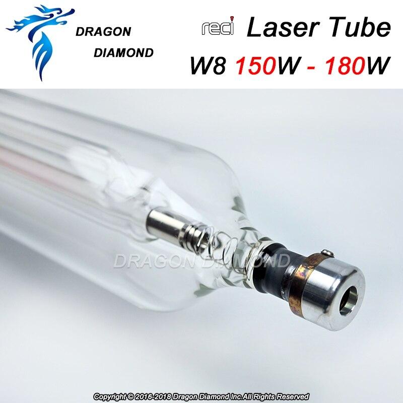 Reci W8 150 Вт 180 Вт CO2 лазерной трубки для CO2 лазерная гравировка резки с деревянный корпус Box посылка