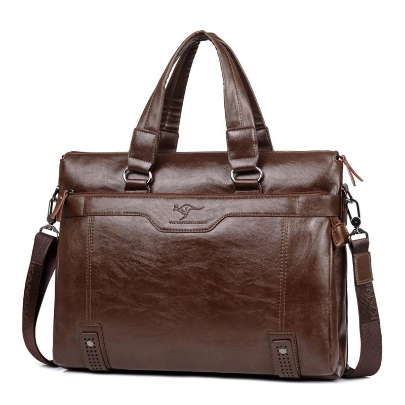 ZYJ Men\`s Business Leather Shoulder Laptop Briefcase Bags Sling Travel Messenger Portfolio Bag Causal Bolsa Lawer Handbag (14)