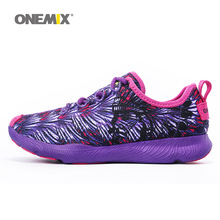 ONEMIX Woman Running Shoes Women Breathable Athletic Trainers Purple Zapatillas Sports Shoe Outdoor Walking Sneakers Free Ship