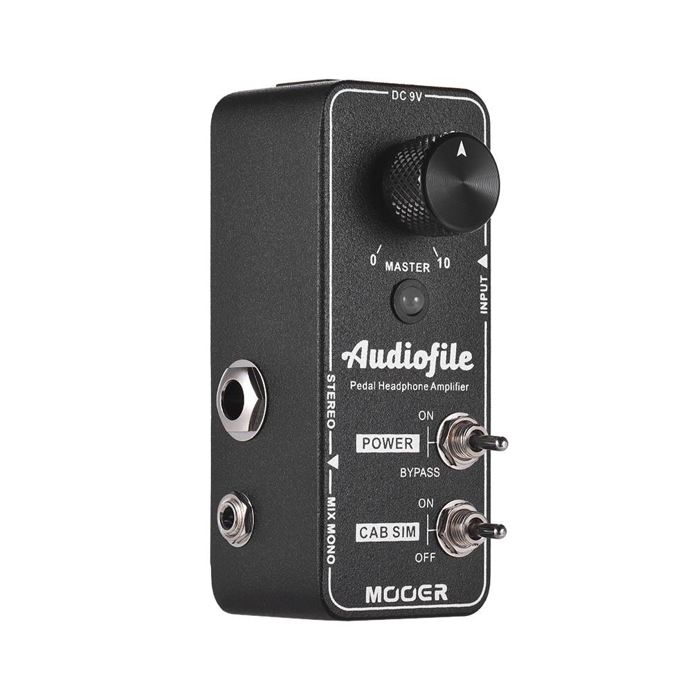 mooer audiofile headphone amplifier effect pedal built in analog speaker cabinet simulation true. Black Bedroom Furniture Sets. Home Design Ideas