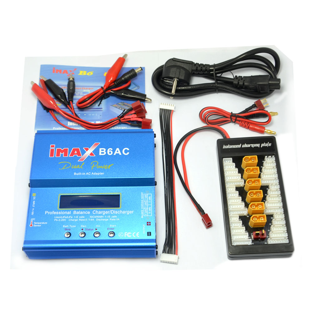 Imax B6ac 80w 6a Dual Rc Lipo Battery Balance Charger Discharger Wiring Batteries Parallel Xt60 Charging Power Adapter Board T Plug Deans In Chargers From Consumer