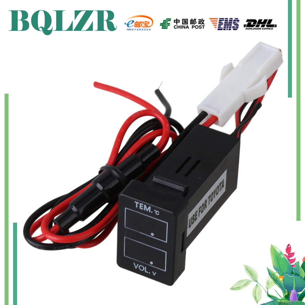 BQLZR DC12-24V Small Thermometer and Voltage Dual Meter NT-TEM/VOL for Toyota New Type new lone wolf and cub vol 5
