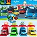 2016 Escala modelo de autobús tayo el pequeño bus niños miniatura plástico bebé oyuncak garaje autobús tayo niños juguetes para niños 4 unids/set