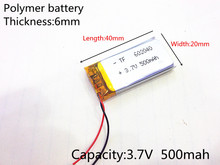 3 7V 500mAh 602040 Lithium Polymer Li Po li ion Rechargeable Battery cells For Mp3 MP4