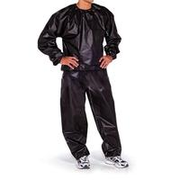 LumiParty High Quality PVC Sauna Suit Fitness Weight Loss Sweat Sports Suit Exercise Gym Training Black