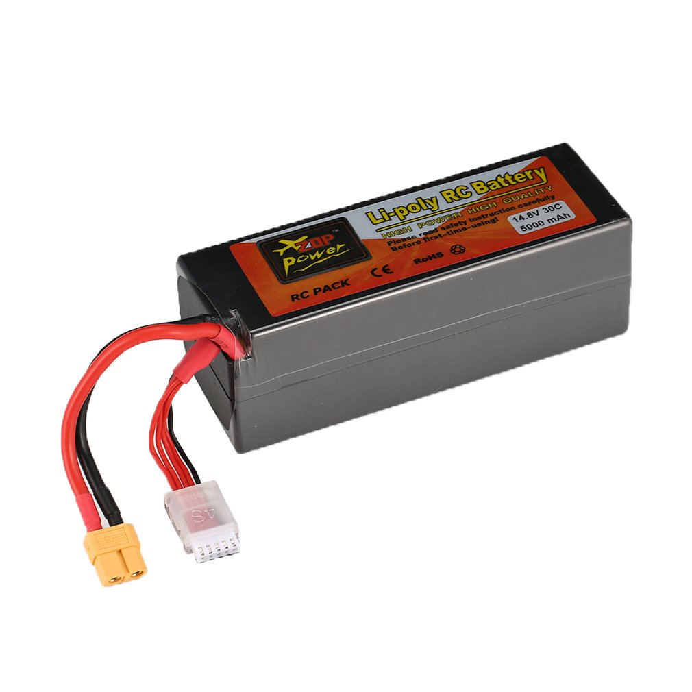 ZOP Power 30C 40C 45C 65C14.8V <font><b>3300mAh</b></font> 5000mAh 5500mAh 7000mAh 8000mAh 6000mAh <font><b>4S</b></font> 1P Lipo Battery XT60 Plug for RC Drone Car tz image