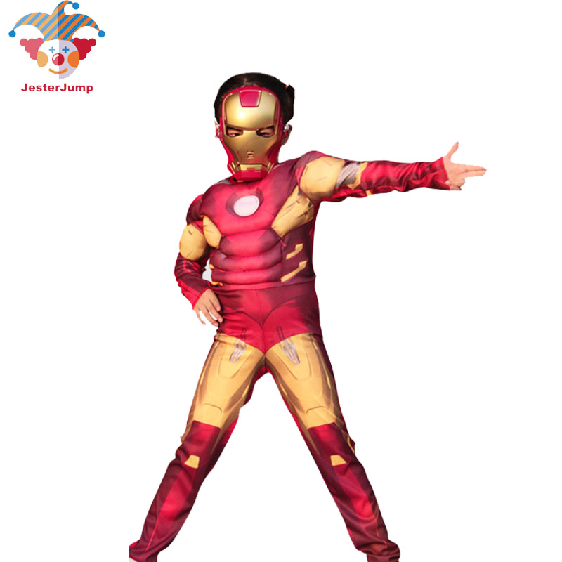 Avenger Role-Playing  Iron Man Costume Fancy Dress Costumes For Kids Ironman Halloween Costumes For Children Super Hero Costume