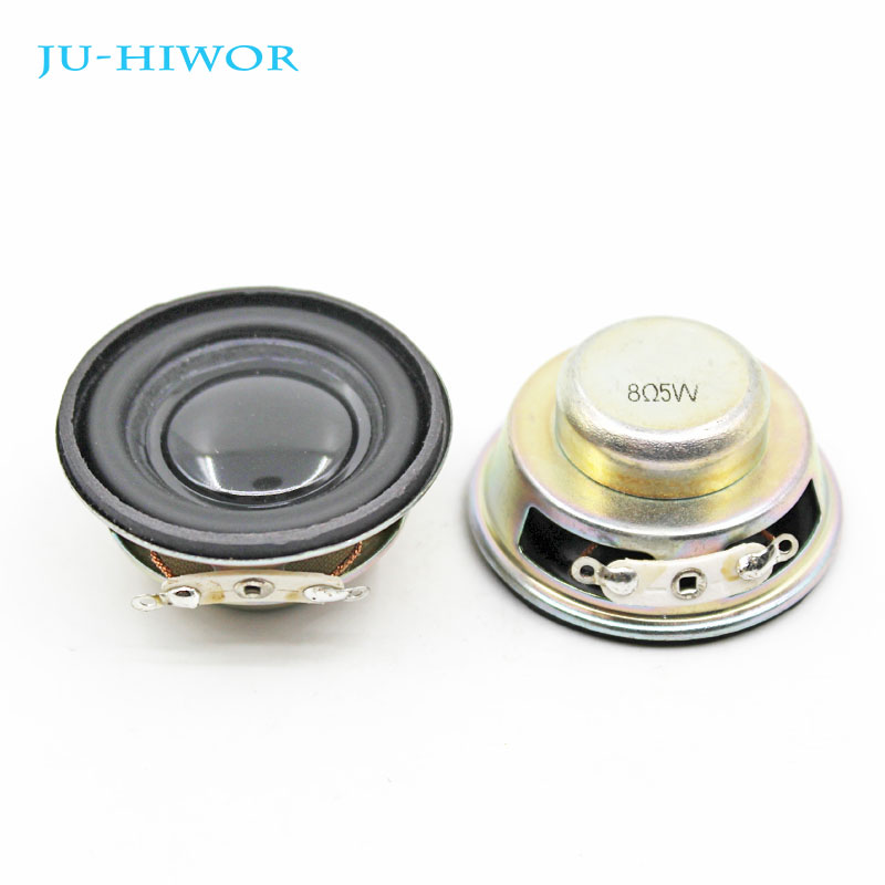 2pcs Acoustic Loudspeaker 8 Ohm 5W 40MM Speaker Internal Magnetic 20MM Magnetic 18MM Thickness PU Edge