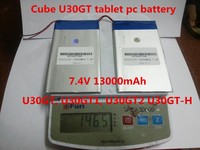 7 4V 13000mAh Tablets Batteries DIY Cube U30GT U30GT1 U30GT2 Dual Four Core Tablet Pc Battery