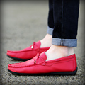 New Arrival Red Loafer Shoes Men Square Toe Tassel White Casual Comfort Shoes Slip On Younger Tide Of Driver Shoes Size 39-44