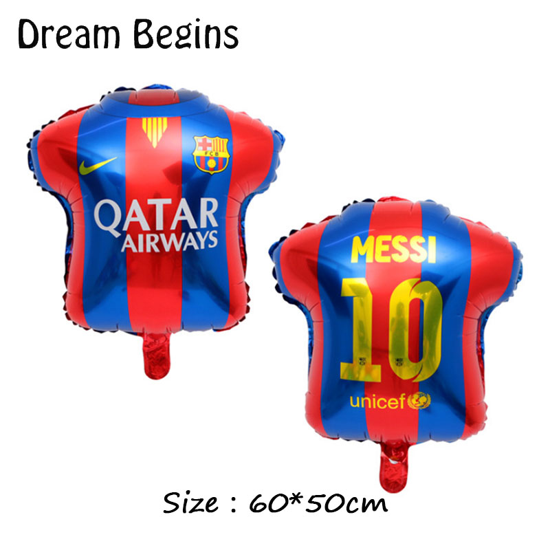 Image 5 - DB 2Pcs 18inch La Liga football league team match Barcelona Real Madrid jersey fans carnival bar celebration decoration balloons-in Ballons & Accessories from Home & Garden
