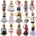 NK 10 Set/Lot al azar mezcla estilo nuevo vestido de la muñeca hermosa ropa de fiesta de moda vestido para muñeca Barbie mejor de las niñas regalo DZ