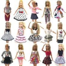 NK 10 Set Lot Randomly Mix Style Newest Doll Dress Beautiful Party Clothes Top Fashion Dress
