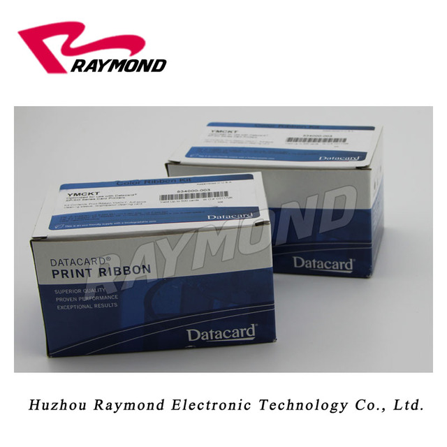 Original 534000-003 YMCKT Color Ribbon 500 prints per roll, for use with Datacard SD260 SD360 SP35 SP55 SP75 card printers