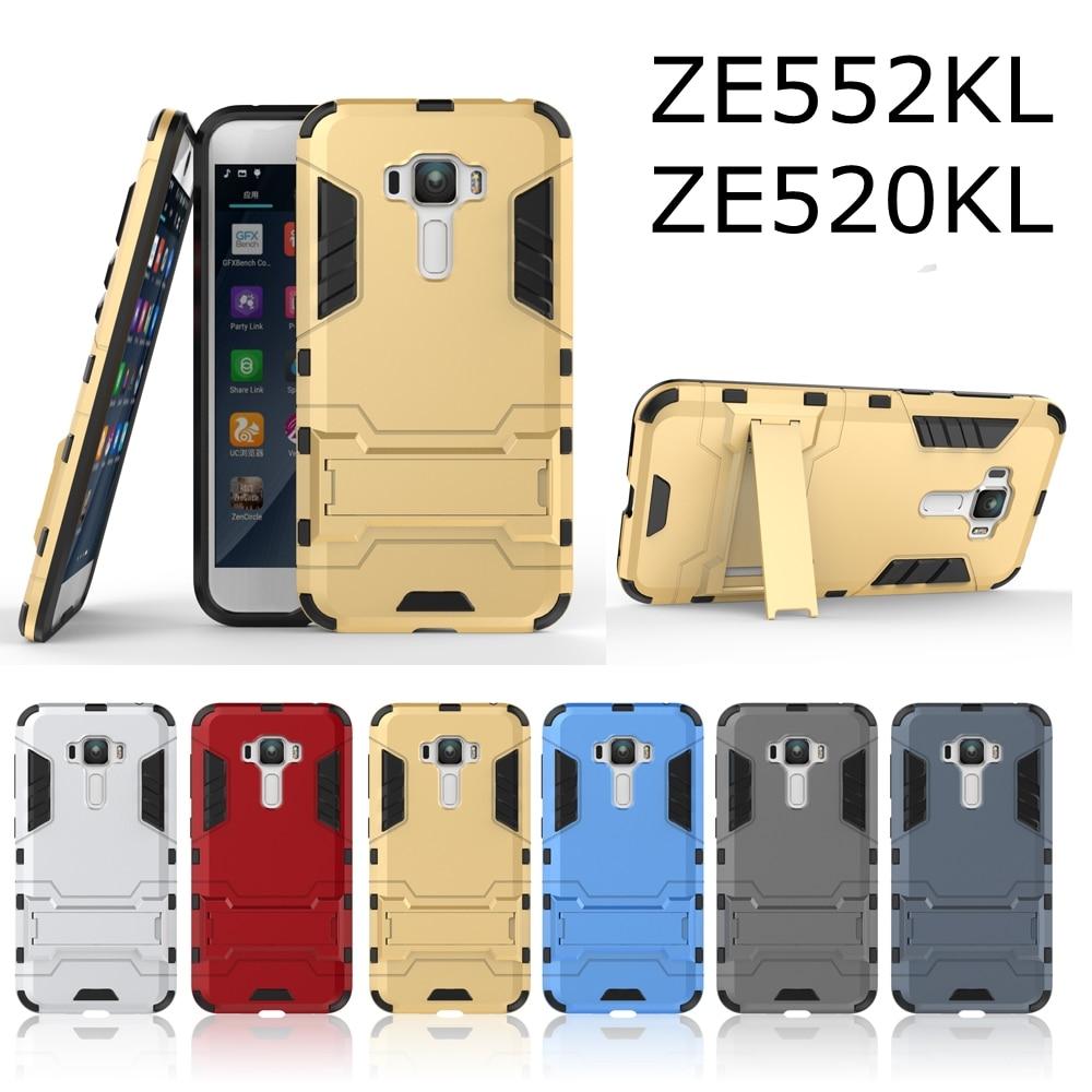Fashion Armor 2 in 1 metal plating plastic hard Kickstand Combo case cover for Asus Zenfone 3 ZE552KL zenfone3 NEO ZE520KL + Pen