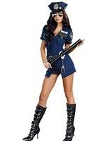 New Ladies Cảnh Sát Fancy Halloween Cảnh Sát Trang Phục Sexy Outfit Cosplay cảnh sát trang phục người phụ nữ Officer Phục Trang Phục Cop
