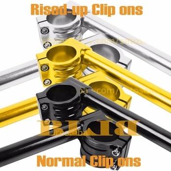 "7/8"" 22mm Handlebar Clip Ons 41mm For Yamaha FZR750 RT RU YZF750 RF RFC FZR1000 TDM850  CNC Moto Grips Set Rised-up And Normal"
