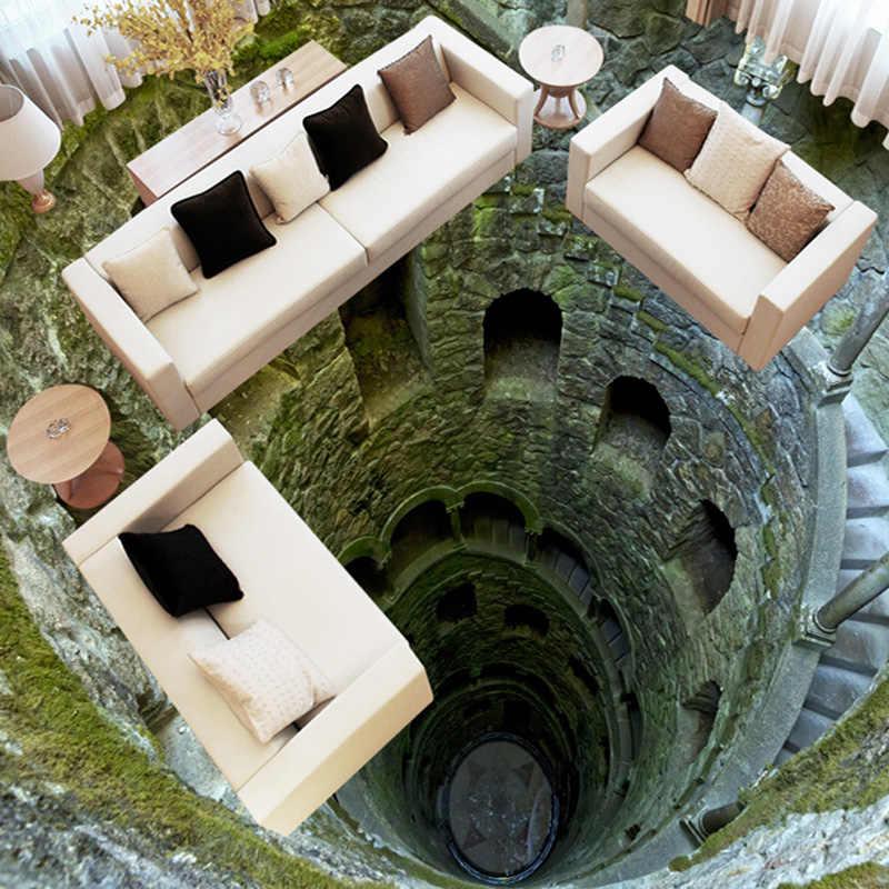 3D ستيريو سوبر صدمة الألغام الطابق اللوحة جدارية صور خلفيات المعيشة غرفة الحمام البلاستيكية للماء Papel دي Parede 3D Paisagem
