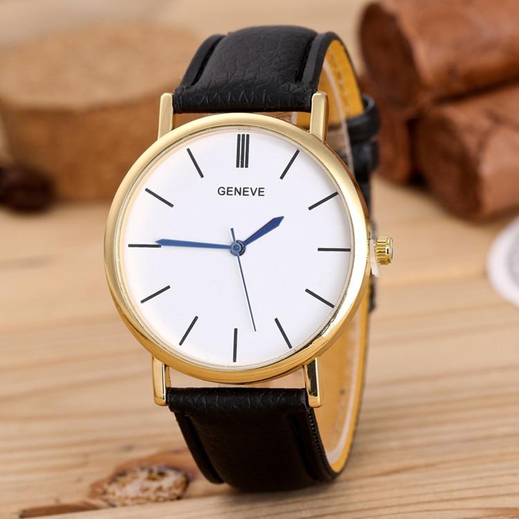 2019 Reloj Fashion Large Dial Military Quartz Men Watch Leather Sport Ladies Watch Classic Clock Wristwatch Relogio Masculino
