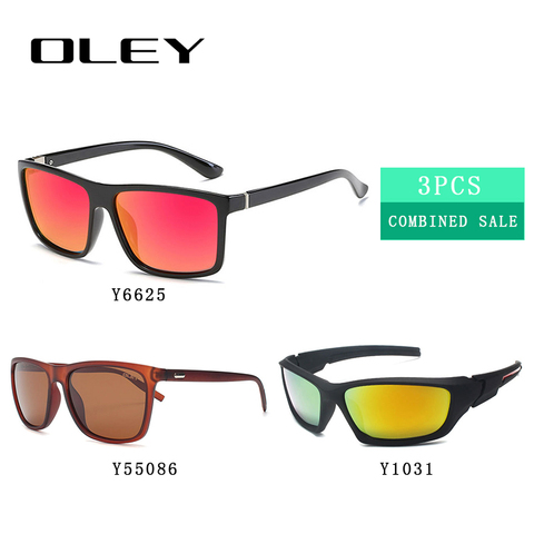3PCS Combined Sale OLEY High quality polarized men sunglasses  popular combo for 2019 Karachi