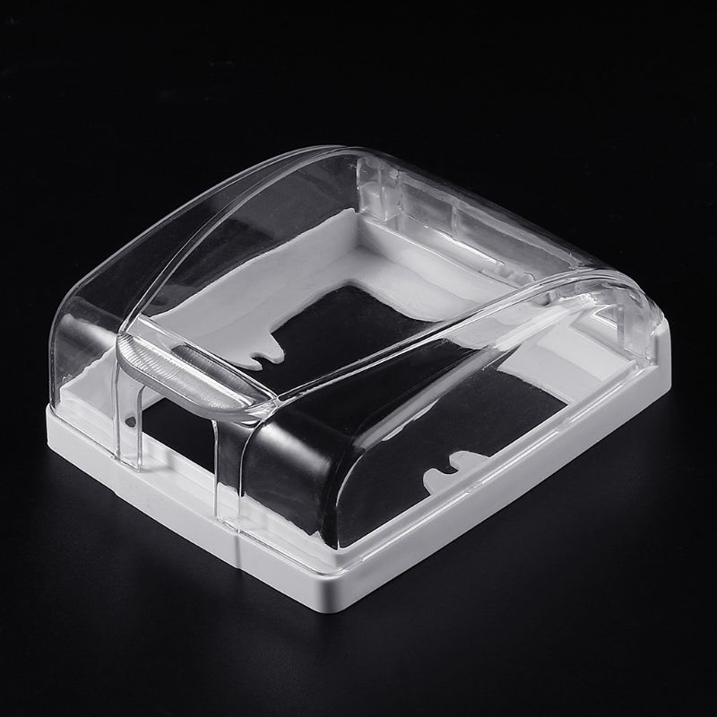 Plastic Wall Switch Waterproof Cover Box Wall Light Panel Socket Doorbell Flip Cap Cover Clear Bathroom Kitchen Accessory 3