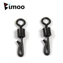 Bimoo 50 шт q образный матовый черный латунный быстросменный