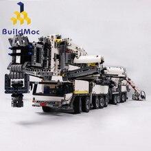 BuildMOC новый мощный мобильный кран BuildingLTM11200 RC моторная техника Конструкторы Кирпичи подарок на день рождения C104
